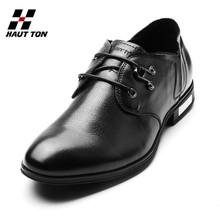 P027 Hautton new model smart men footwear platform pure men leather shoes