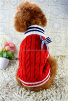 2014 New Red Bows Pet Dog Sweater 0022 Wholesale Cats Products