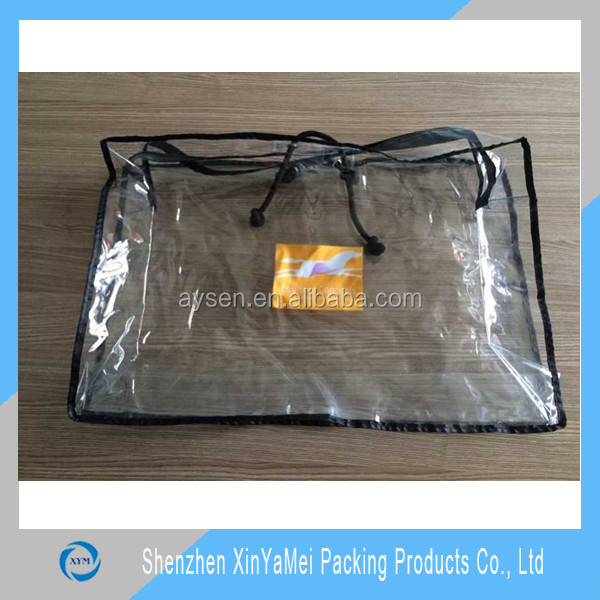 pvc bag with glitter of fabric for bedding/sheet set