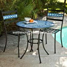 più venduto corallo costa Marina bistro mosaico set mobili da esterno