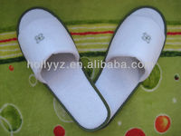 High quality New design cotton velour open toe hotel slipper