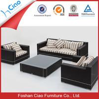 Outdoor furniture PE ratan l shape sofa cover european style sofa set