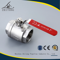 alibaba china manufacturer 2 pc inner thread cf8m stainless steel ball valve