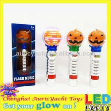 halloween pumpkin lighted spinning led wand ZH0910997