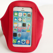 """For iphone 6 4.7"""" Sport armband mobile phone sport Armband Case with Key Holder and Headphone Jack"""