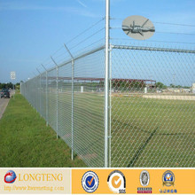 High quality PVC coated playground chain link fence/galvanized chain link fence