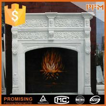 well polished natural wholesale hand carved personalized stone fireplace marmer fireplace