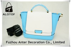 New design wholesale fashion PU leather ladies bag woman leather tote bag