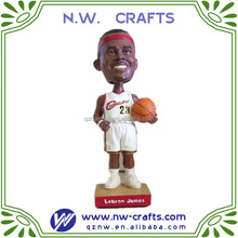 Resin NBA basketball custom sport bobble head figurines