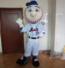 hot sale mr met costume/ met mascot adult mr met costume/ met mascot