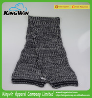 Best Popular High Quality 100% Acrylic AB Yarn Plain Winter Fashion Knitted Scarves