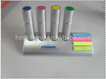 4 in 1 highlighter pen set & metal marker pen with sticker & promotional pen set