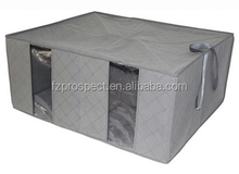 foldable bamboo charcoal non-woven fabric storage bag with lid