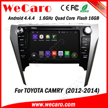 """Wecaro Top Version Android 4.4.4 car dvd in dash 8"""" for toyota camry car pc with gps wifi tv tuner A9 cpu 2012 2013 2014"""