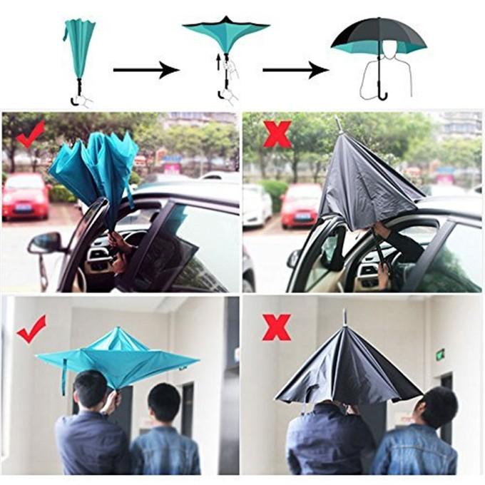 double couche c poign e automatique pliage parapluie invers parapluie id de produit 60546565133. Black Bedroom Furniture Sets. Home Design Ideas