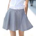 Hjq-c4004 Veri Gude nuevo desgaste del verano de la mujer moda rayas de una línea de falda