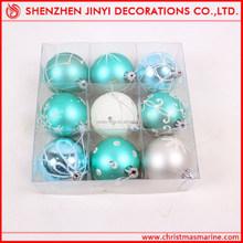 Promotional Decorative Apple green Christmas ball