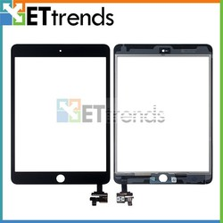 For Apple iPad Mini 3 Digitizer Touch Screen with IC Chip and Camera Holder