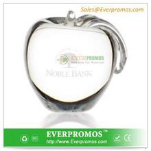 Custom Imprinted Clear Crystal Apple