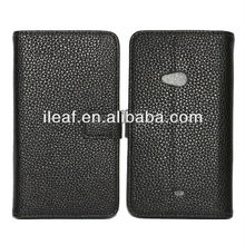 For Nokia Lumia 625 leather Cover Stand Case With Card Slots
