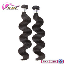 XBL Factory Price Excellent Quality 8A Grade Chemical Free Wavy Indian Remy Hair Weave