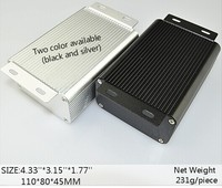 silver and black Anodized aluminium extrusion profile outermost shell