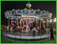 alibaba china new products children games cheap kids mini carousel used Double-deck musical carousel for sale