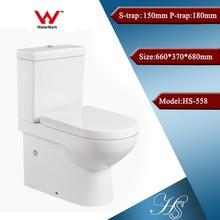 Hs-558 artículos sanitarios dual flush fácil clearn aseo productos