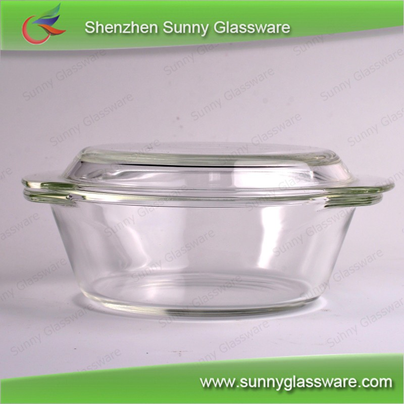 High Borosilicate Heat Resistant Glass Oven Bowl with Lid c