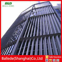 motorized hollow louvre aluminum spindle shutters