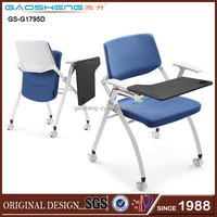 Ergonomic design swivel office chair with contoured moulded foam GS-1795D folding chair parts