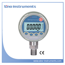 HX601 High quality stainless steel digital hydraulic test pressure gauge with stainless steel bottom
