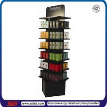 TSD-W544 wood revolving pick rack,MDF retail bin shelving, custom wood rotating shelf display