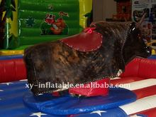 rojo inflable mechanical bull