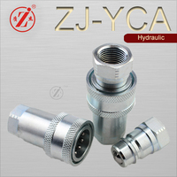 ZJ-YCA ISO 5675 agricultural coupling ball valves quick disconnect pipe connector