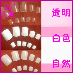 100/500 pcs white/natural/lucency artificial toe nails