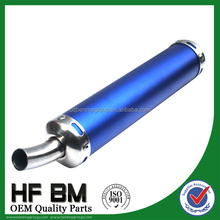 wholesale 100cc,50cc,150cc blue muffler silencer motorcycle, aluminium alloy blue exhaust muffler motorcycle racing