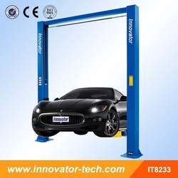 2 post hydraulic car lifts with CE certificate IT8233 3200kg capacity to repair cars MOQ 1set
