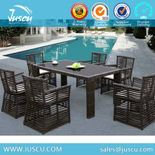 Outdoor Furniture Wicker Dining Table and Chairs Factory Supply