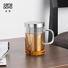 SAMADOYO High Quality Heat-resisting Glass Tea Mug with Infuser
