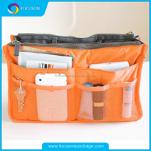 Wholesale dual zipper portable multifuntion thicken travel storage bag