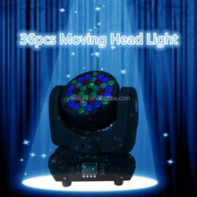 Hot selling 36*3w beam led moving head rgbw wash light