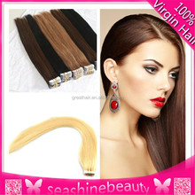 Top Quality Full cuticle pu skin weft hair 100g/piece brazilian hair tape hair extension 18--28inch in stock