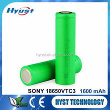 Japan special vtc3 18650 3.7v 1600mah lithium battery - Free samples