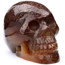 2015 popular agate stone skull hand carved craft