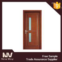 veneer wood flush door with glass / glass restaurant entrance door