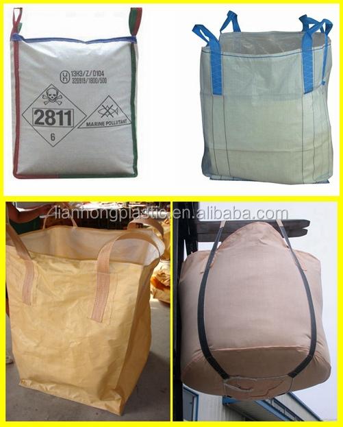 Fabrica precio 1 ton bolsa jumbo un jumbo big bag lazos - Bolsas para escombros ...