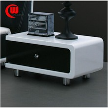 Bedside locker alboh modern fashion classic black and white color for the bed is on the right nightstand