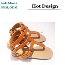 Summer Leather Girls Sandals Little Girls Roman Sandal Kids Gladiator Sandal Shoes