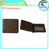 Custom leather Rfid Blocking Wallet cards passport
